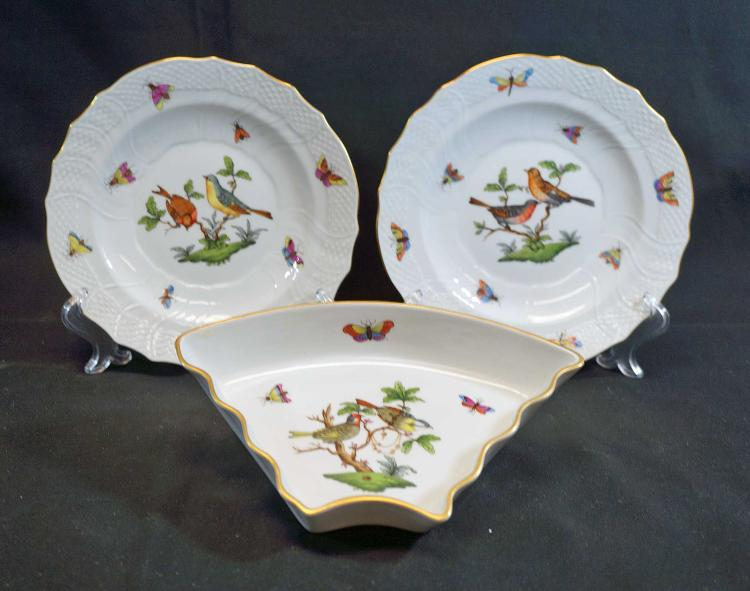 Herend Rothchild Salad Plates (3)