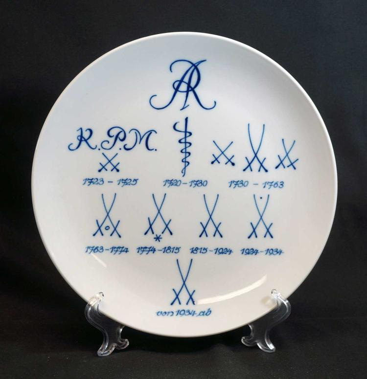 Meissen History of Insignia's Plate