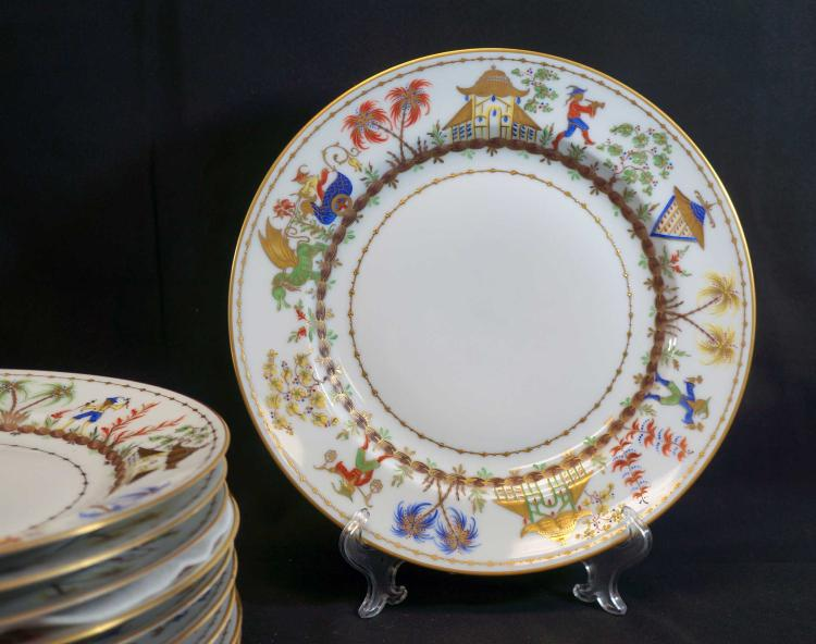 Tiffany & Co. Cirque Chinois Dinner Plates (10)
