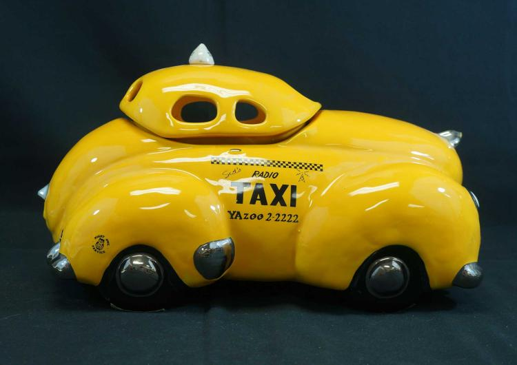 Glenn Appleman Sid's Taxi Large Cookie Jar