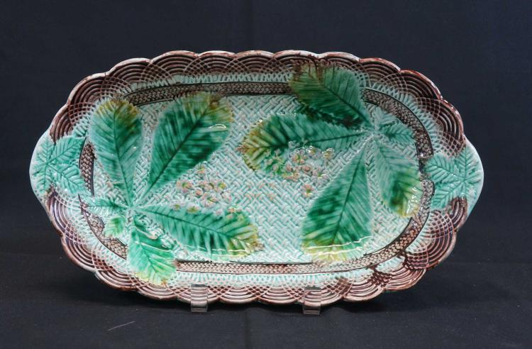 Majolica Oval Serving Bowl