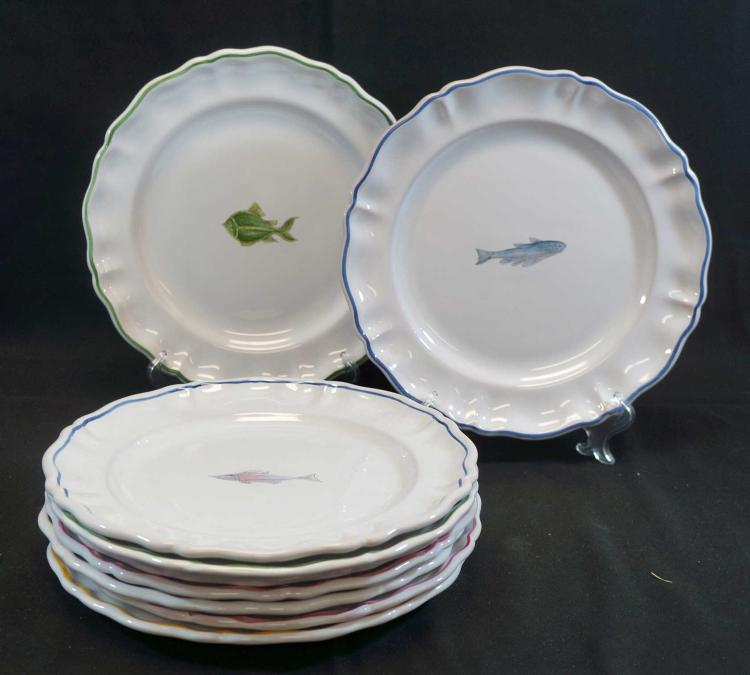 Atelier de Segries French Faience Fish Plates (9)