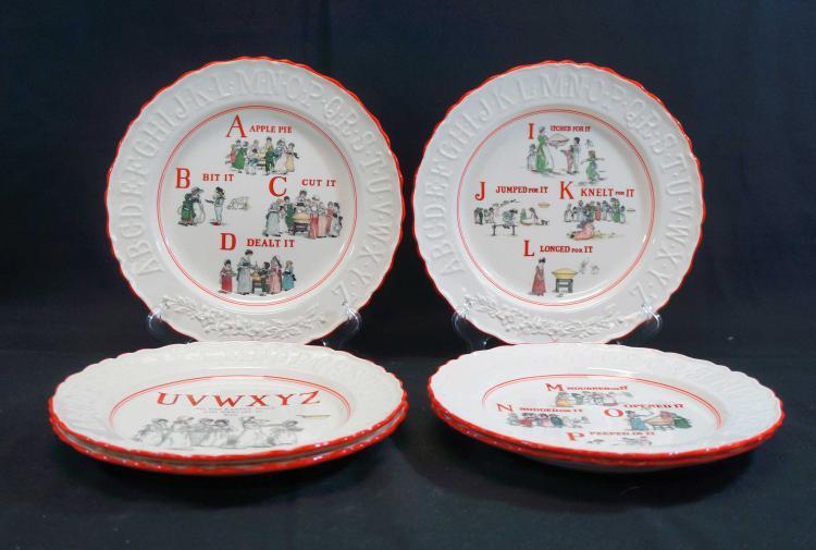 Kate Greenaway Set (6) Alphabet Plates