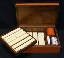 Large Designer Poker Chip Set in Leather Box