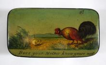 Antique Snuff Box Chicken and Chick