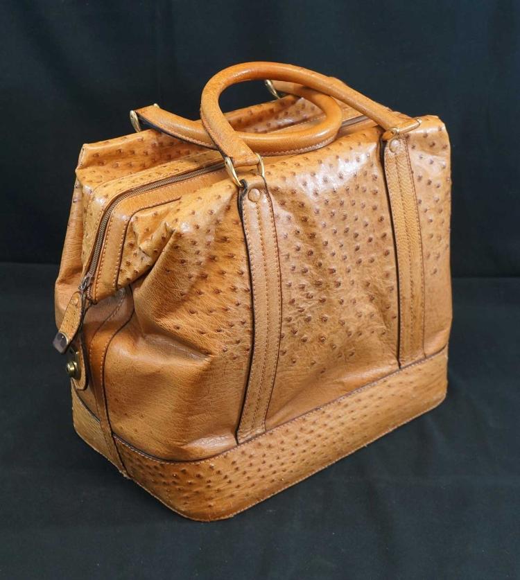 Mark Cross Ostrich Bag
