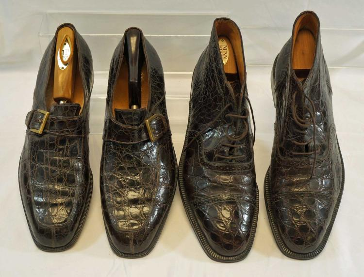 Salvatore Ferragamo, Two Pairs of Crocodile Shoes