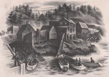 Isaac J. Sanger Lithograph [WPA, New England]