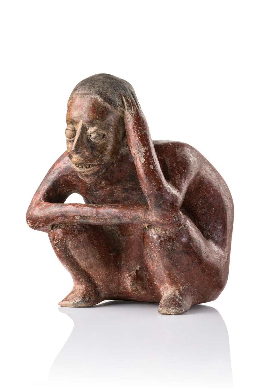 Squatting male figure, ~ 100 BC - 250 AD - Mexico, Ameca, Jalisco