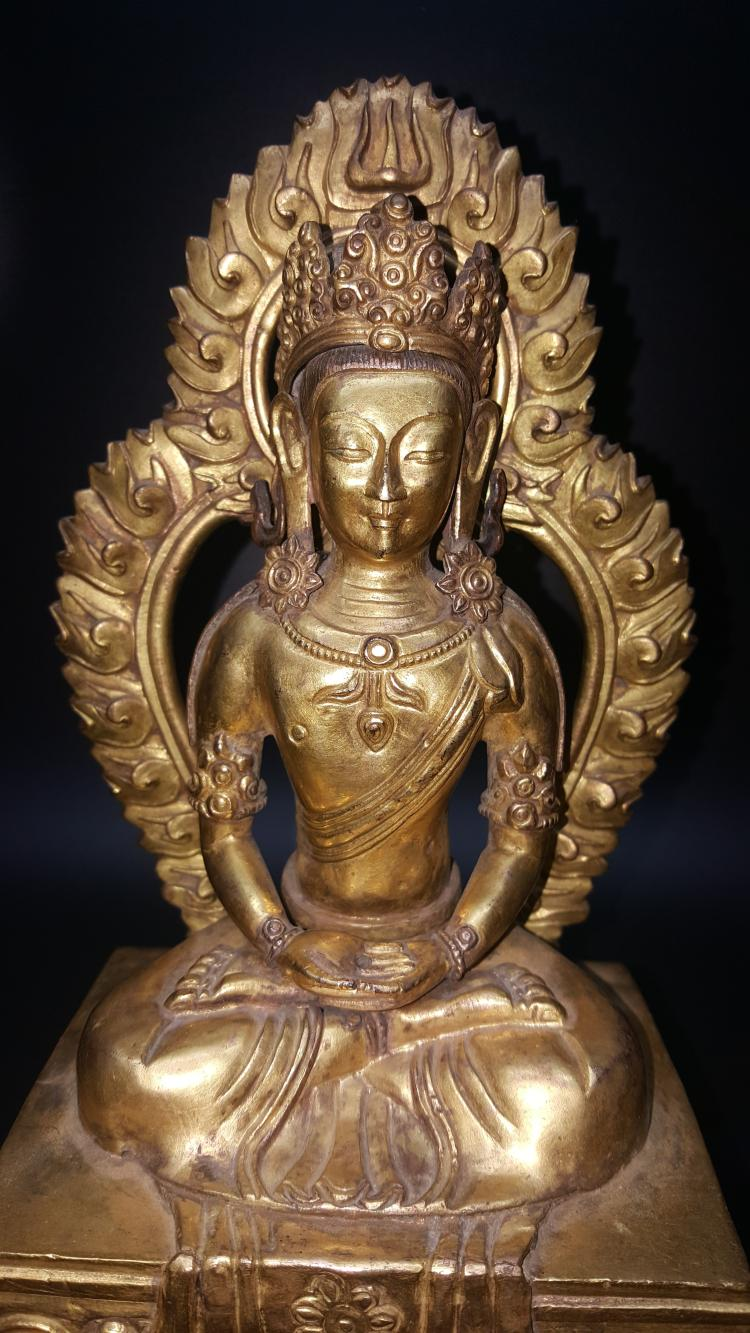 Chinese bronze buddha qianlong period for Buddha decorations for the home uk