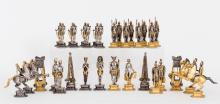 Rome vs. Egypt Chess Set Designed by Giuseppe Vasari, Milan, Italy