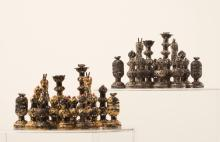 Israeli Silver and Metal Gilt Chess Set, Second Half of 20th Century