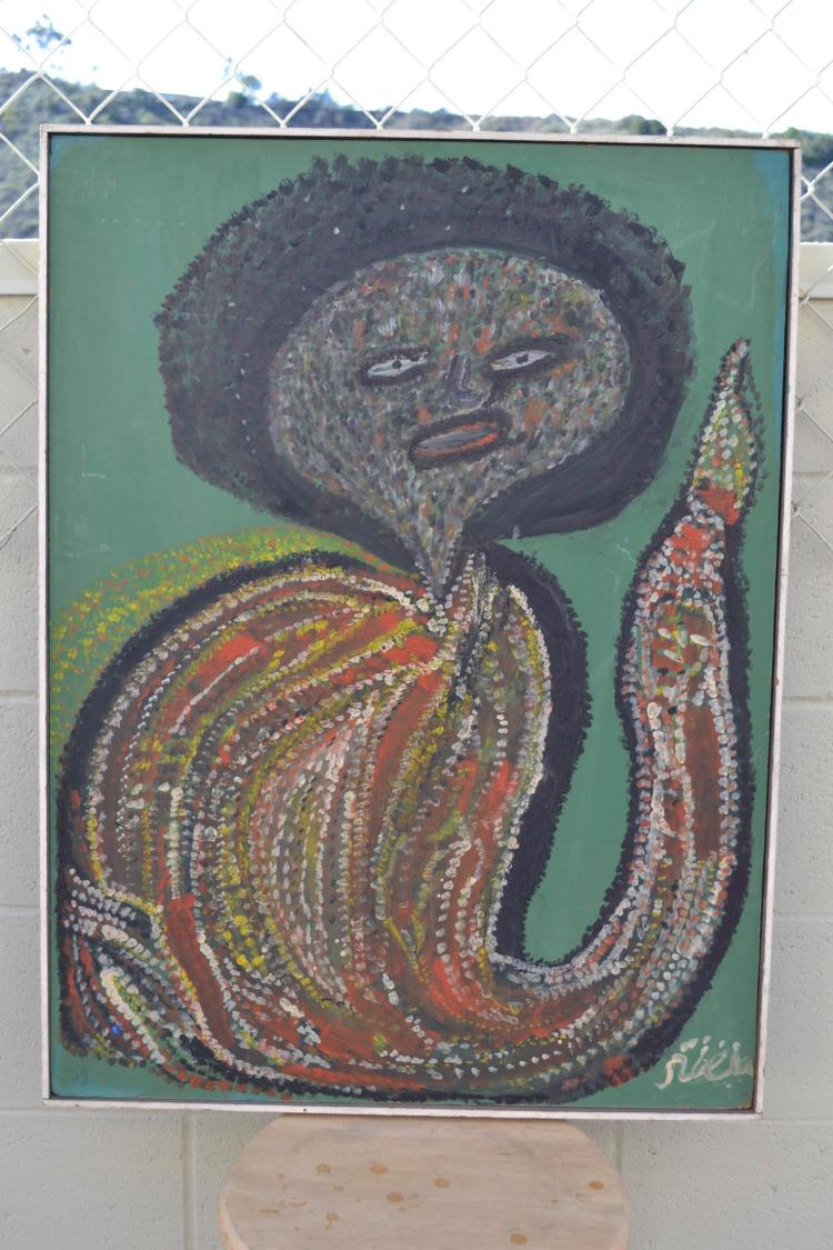 Robert St. Brice Haitian Loa, circa 1960's, Self Taught, Folk, Outsider Art Painting