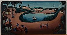 Bourmond Byron (Haitian/Jacmel, 1920-2004), Catch of the Day, early 1960's