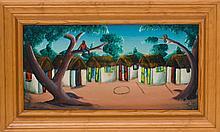 Bourmond Byron (Haitian/Jacmel, 1920-2004), Untitled (Circle Game), c. early 1960's