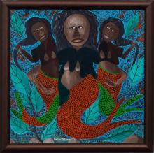 Gelin Buteau (Haitian/Village of Coteau, 1954-2000), Three Mermaids Embracing