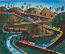 Préfète Duffaut (Haitian/Jacmel, 1923-2012) Imaginary City, dated 1963