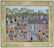 Eugene Jean (Haitian/Cap-Haitien, b.1950), Communion Celebration, c. 1990