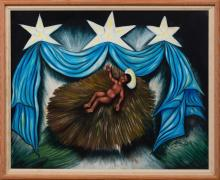 Felix Jean (Haitian/L'Anse-a Veau, b. 1930)   Nativity, Christ Child, Circa 1960's