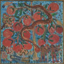 Gerard (Fortune) (Haitian/Petionville, b. 1933), Temptation in the Garden of Eden, c.1980's