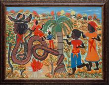 Gerard (Fortune) (Haitian/Petionville, b. 1933)   Offering to Dambala, c.1990's