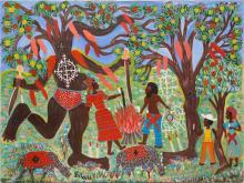 Gerard (Fortune) (Haitian/Petionville, b. 1933)   Trees Come Alive at Ceremony, c.1990's