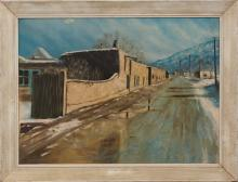 Cecil Wakefield (American/1930-2003) Canyon Road, Santa Fe New Mexico