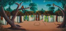 Bourmond Byron (Haitian) Circle Game, Self-taught/Folk Outsider Art