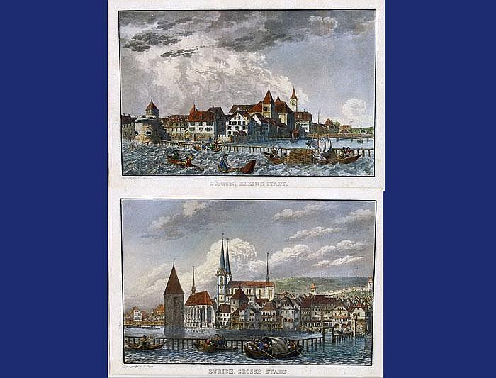Two views of Zurich Lot: Zwei Ansichten von Zürich