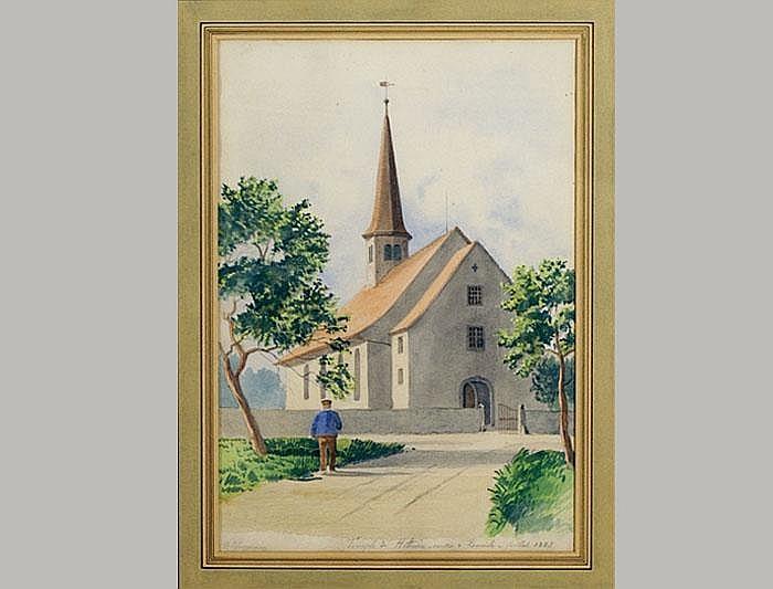 Huguenin, Oscar. (1842 La Sagne - Boudry 1903).