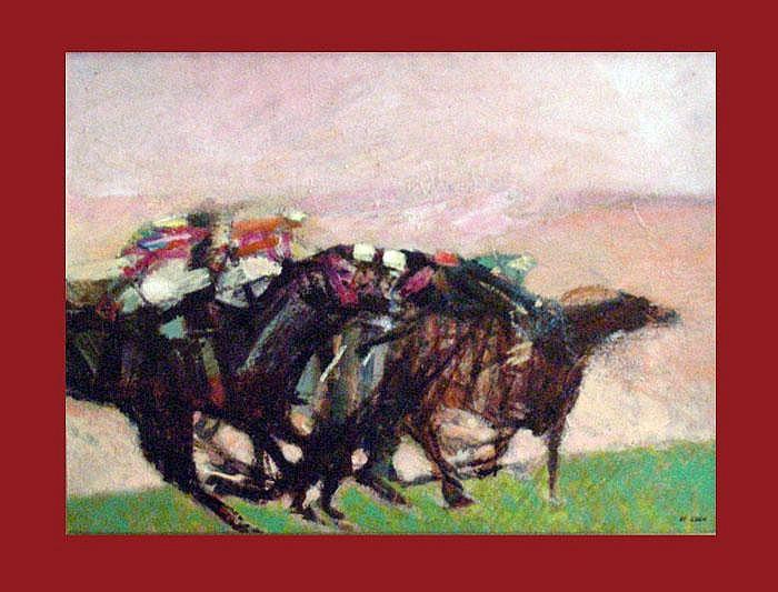 Guen, Jean le (*1926 Lorien). Chantilly. Öl auf