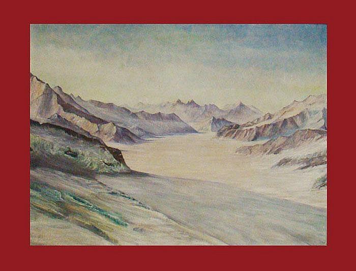 Buser, Werner (1928 Basel 1994). Aletschgletscher